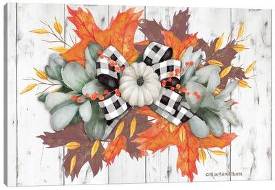 White Pumpkin Swag Canvas Art Print
