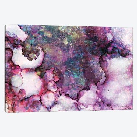 Abstract Violet Ink Wash Canvas Print #BLB213} by Bluebird Barn Canvas Art Print