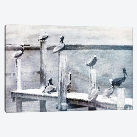 Birds on a Pier Canvas Print #BLB217} by Bluebird Barn Canvas Artwork