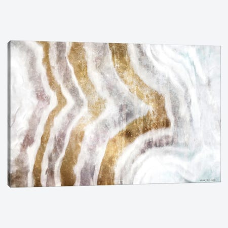 Gold Stone Layers Abstract Canvas Print #BLB221} by Bluebird Barn Canvas Wall Art