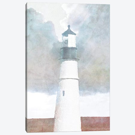 Morning Lighthouse Canvas Print #BLB227} by Bluebird Barn Art Print