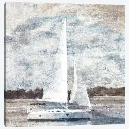 Sailboat on Water Canvas Print #BLB235} by Bluebird Barn Canvas Wall Art