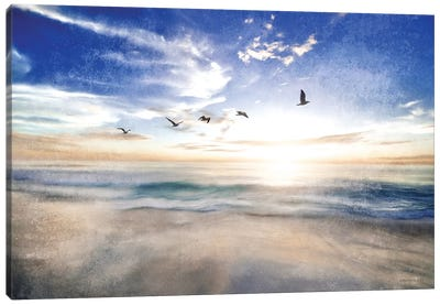 Seascape with Gulls Canvas Art Print