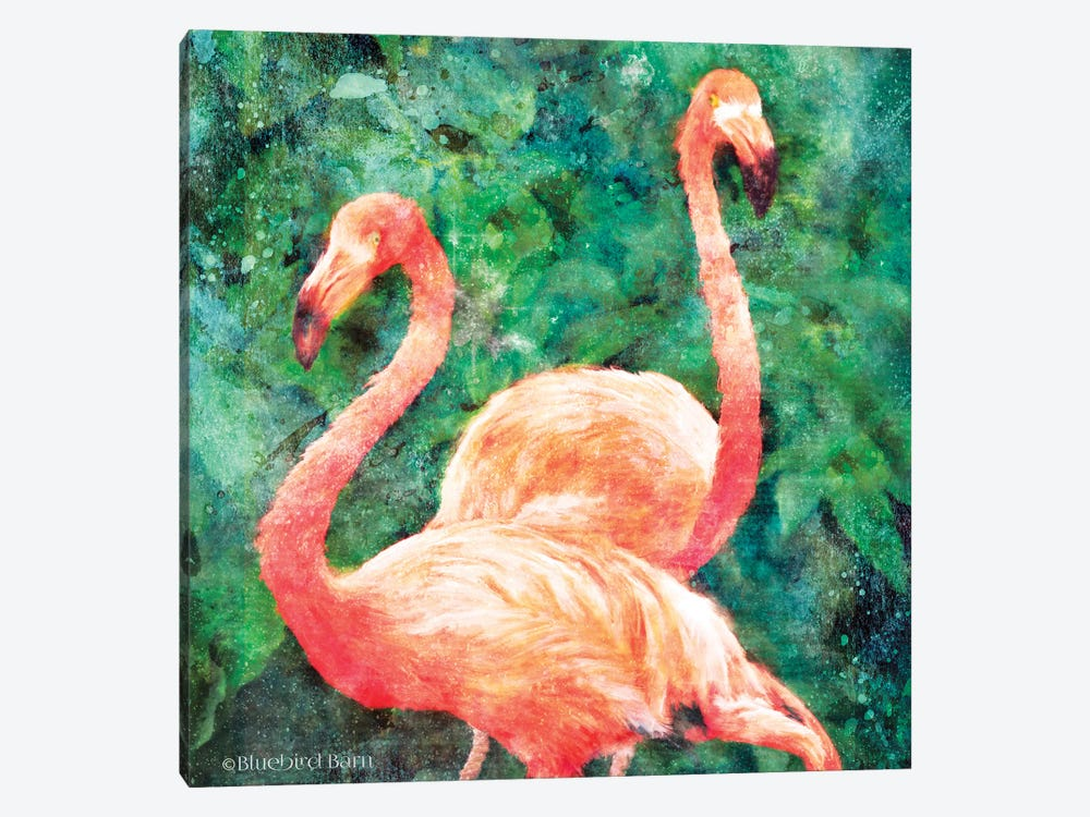 Flamingos by Bluebird Barn 1-piece Canvas Print