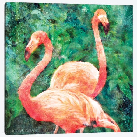Flamingos Canvas Print #BLB250} by Bluebird Barn Canvas Art Print