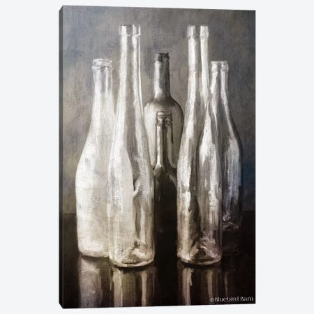 Grey Bottle Collection Canvas Print #BLB251} by Bluebird Barn Canvas Print