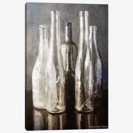Grey Bottle Collection Canvas Print #BLB251} by Bluebird Barn Canvas Print