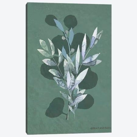 Watercolor Greenery Series Dark I  Canvas Print #BLB257} by Bluebird Barn Canvas Artwork