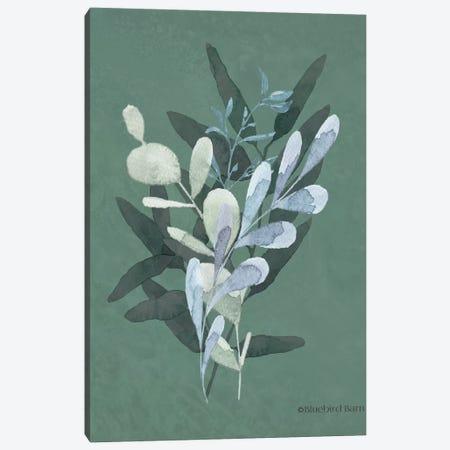 Watercolor Greenery Series Dark II Canvas Print #BLB258} by Bluebird Barn Canvas Art Print