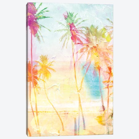 Bright Summer Palms Canvas Print #BLB259} by Bluebird Barn Art Print