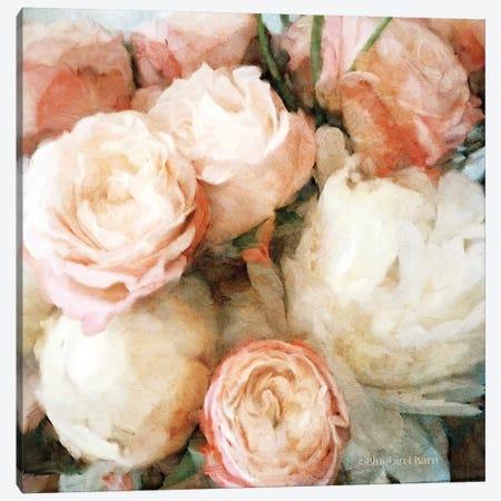English Rose Garden Canvas Print #BLB266} by Bluebird Barn Art Print