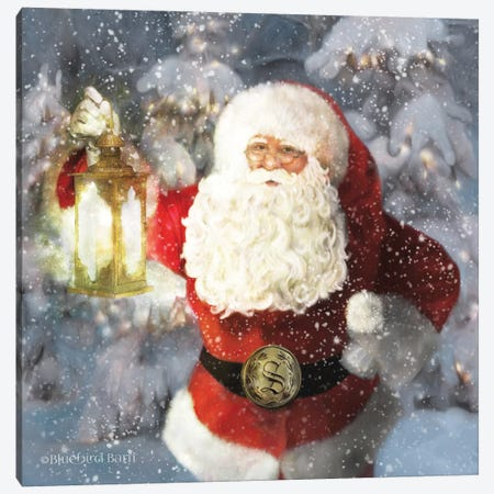 Light The Way Santa Canvas Print #BLB267} by Bluebird Barn Art Print