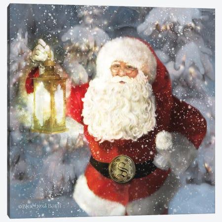 Light The Way Santa Canvas Print #BLB267} by Bluebird Barn Art Print