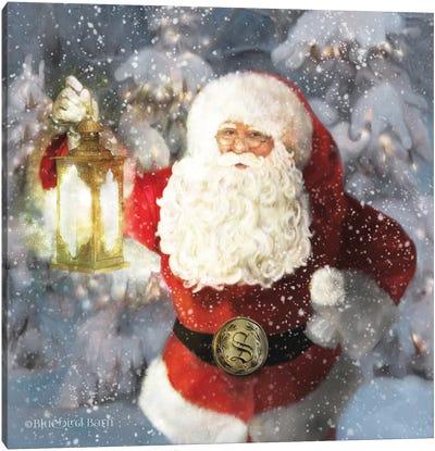 Light The Way Santa Canvas Art Print