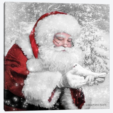 Santa's Little Friend Canvas Print #BLB268} by Bluebird Barn Canvas Artwork