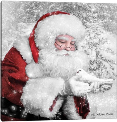 Santa's Little Friend Canvas Art Print