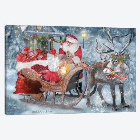 Santa's Little Helper Canvas Print #BLB269} by Bluebird Barn Canvas Wall Art