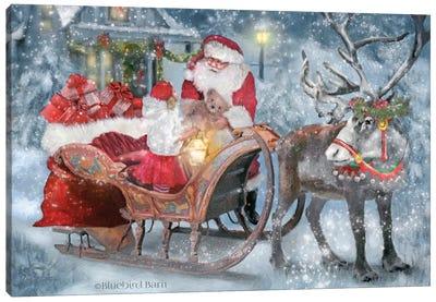 Santa's Little Helper Canvas Art Print