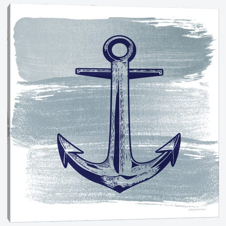 Brushed Midnight Blue Anchor Canvas Print #BLB284} by Bluebird Barn Canvas Print
