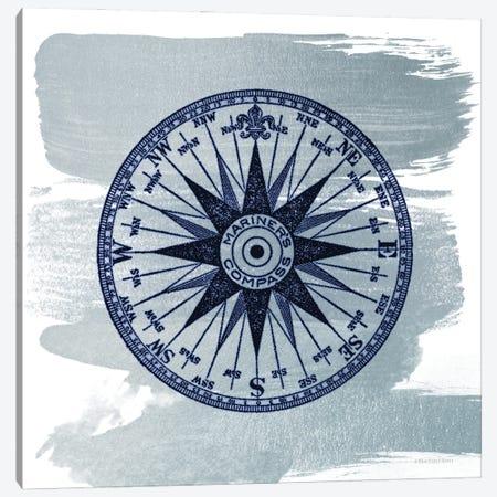 Brushed Midnight Blue Compass Rose Canvas Print #BLB285} by Bluebird Barn Canvas Print