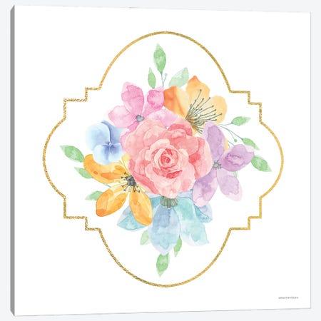 Floral Center Rose     Canvas Print #BLB291} by Bluebird Barn Canvas Art Print