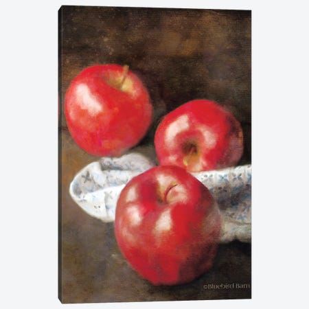Apples and Quilt Canvas Print #BLB2} by Bluebird Barn Canvas Artwork