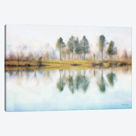 Lake Reflections Canvas Print #BLB306} by Bluebird Barn Canvas Wall Art