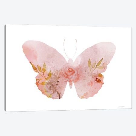 Meadow Flora Butterfly Canvas Print #BLB310} by Bluebird Barn Canvas Art