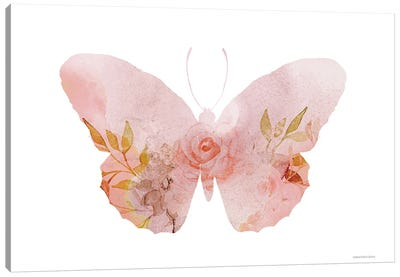 Meadow Flora Butterfly Canvas Art Print
