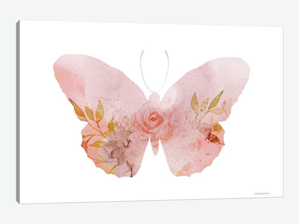 Meadow Flora Butterfly by Bluebird Barn 1-piece Canvas Artwork