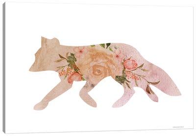 Meadow Flora Fox Canvas Art Print