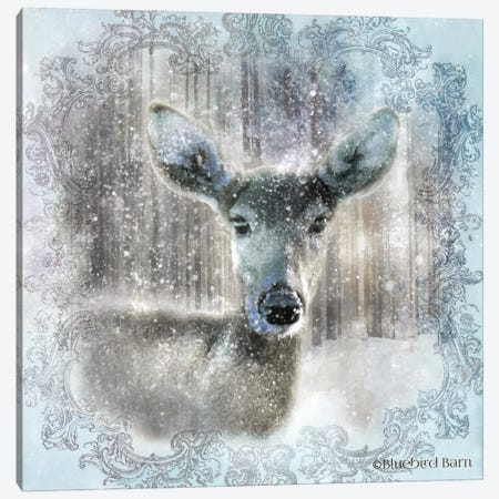 Enchanted Winter Fawn Canvas Print #BLB31} by Bluebird Barn Canvas Art