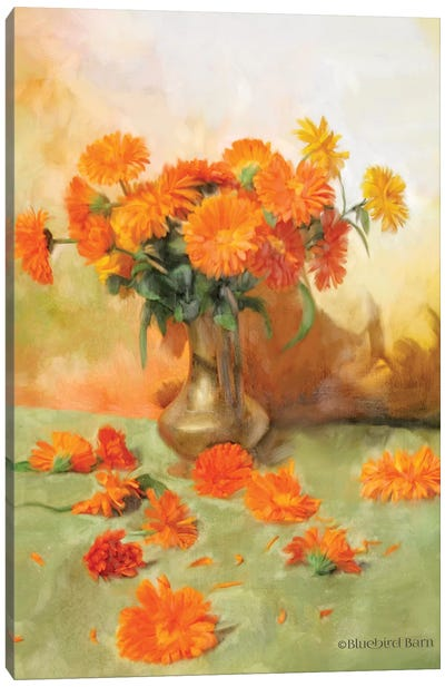 Gerber Daisy Scattered Still Life Canvas Art Print