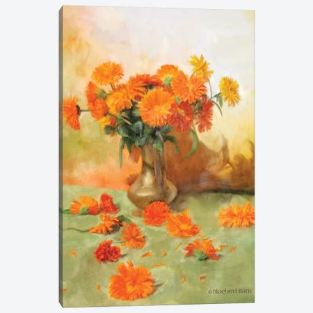 Gerber Daisy Scattered Still Life Canvas Print #BLB39} by Bluebird Barn Canvas Art