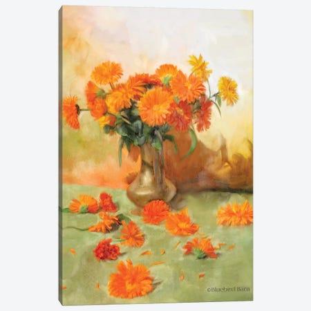 Gerber Daisy Scattered Still Life Canvas Print #BLB39} by Bluebird Barn Canvas Art