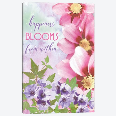 Happiness Blooms Within Canvas Print #BLB42} by Bluebird Barn Canvas Print