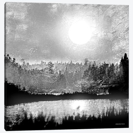 Big Moon Lake Canvas Print #BLB5} by Bluebird Barn Art Print