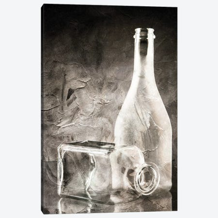 Moody Gray Glassware Still Life Canvas Print #BLB61} by Bluebird Barn Canvas Art Print