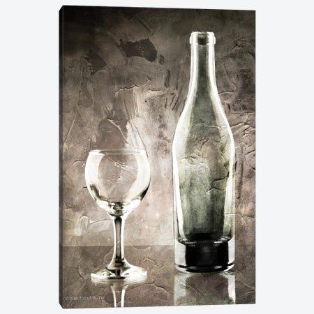 Moody Gray Wine Glass Still Life Canvas Print #BLB62} by Bluebird Barn Canvas Art Print