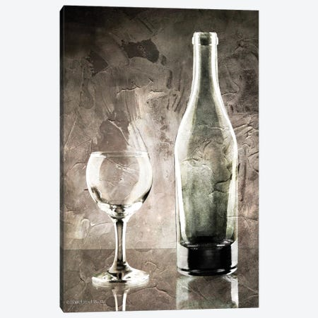 Moody Gray Wine Glass Still Life 3-Piece Canvas #BLB62} by Bluebird Barn Canvas Art Print