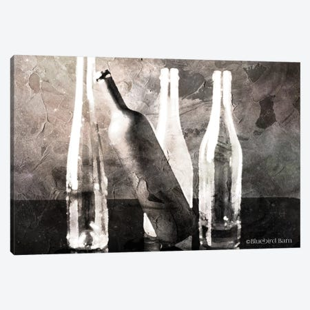 Moody Grey Bottles Still Life Canvas Print #BLB63} by Bluebird Barn Art Print