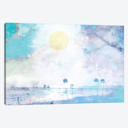 Palm Beach in Blue Canvas Print #BLB69} by Bluebird Barn Canvas Art Print