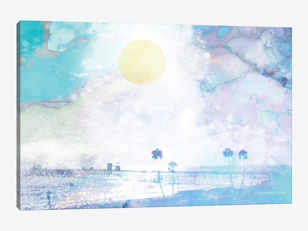 Palm Beach in Blue by Bluebird Barn 1-piece Canvas Print