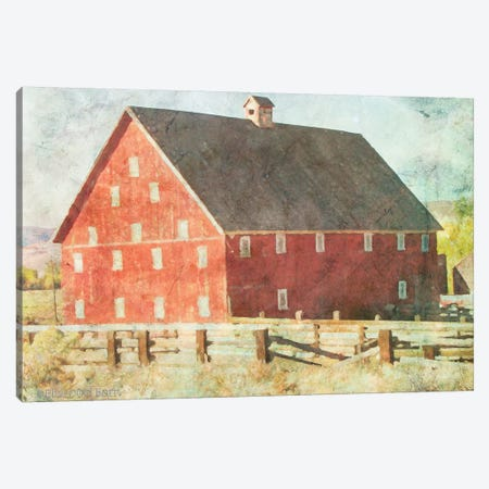 Big Red Barn     Canvas Print #BLB6} by Bluebird Barn Canvas Print