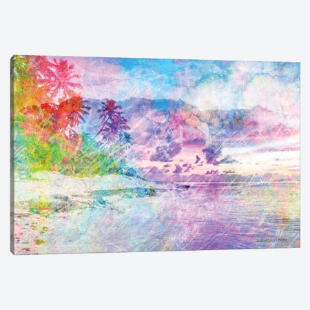 Rainbow Bright Beach Scene Canvas Print #BLB73} by Bluebird Barn Canvas Art