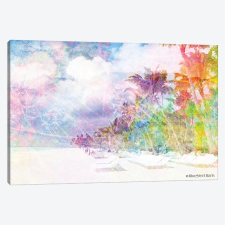 Rainbow Bright Coast and Palms Canvas Print #BLB74} by Bluebird Barn Art Print