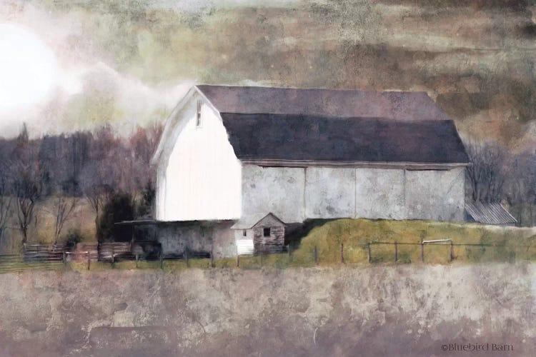 Rustic White Barn Scene I Canvas Wall Art By Bluebird Barn Icanvas