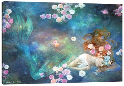 Sleeping Beauty Mermaid Canvas Art Print