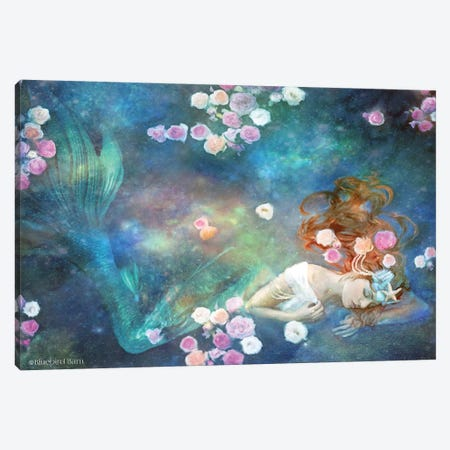 Sleeping Beauty Mermaid Canvas Print #BLB81} by Bluebird Barn Art Print
