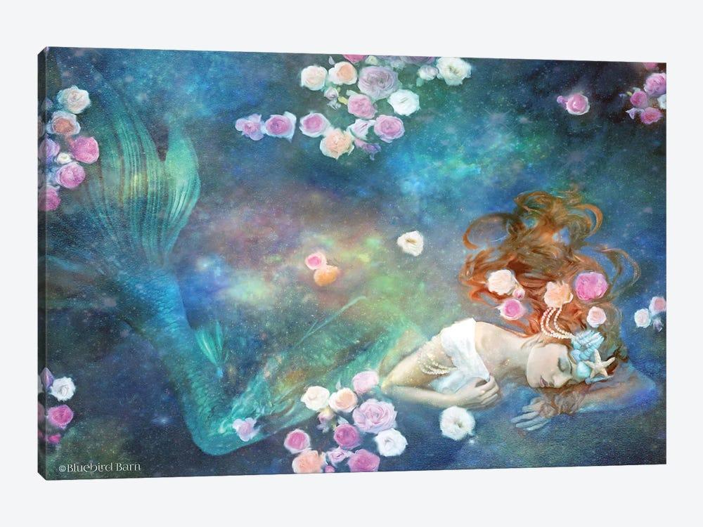 Sleeping Beauty Mermaid by Bluebird Barn 1-piece Canvas Art Print